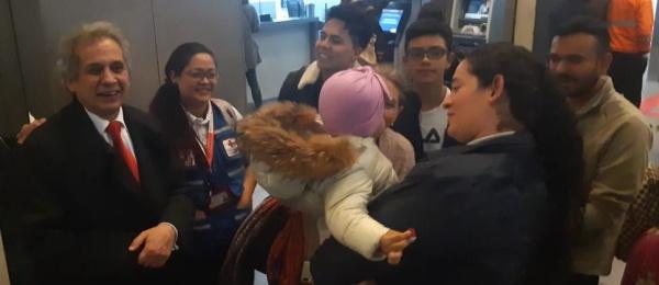 Culminó con éxito el traslado de una menor colombiana desde Guangzhou hasta Medellín, Colombia
