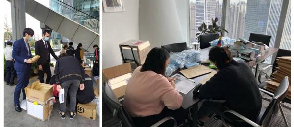 El Consulado de Colombia en Guangzhou empezó a distribuir elementos de protección
