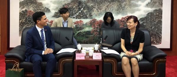 Reunión del Cónsul de Colombia en Guangzhou con la Vicepresidente del Consejo Chino para la Promoción del Comercio Internacional
